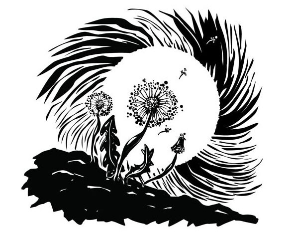Dandilion Puff in the Moonlight
